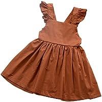 0207350f5a815 Cutelove 子供ドレス キャミワンピース フリル 蝶結び付き 無地 女の子 夏 袖なし 素敵 可愛い コットン