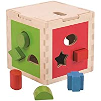 Bigjigs Toys木製図形cube-educational Sortingアクティビティ