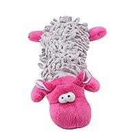 ペットおもちゃ 犬 噛むおもちゃ 動物型 猫おもちゃ 歯磨きおもちゃ 歯ぎ清潔 音が出る 犬猫 運動不足解消 猫遊び ペット用品(ピンク)