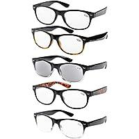 Eyekepper 5-pack Spring Hinges 80's Reading Glasses Includes Sunshine Readers +3.50