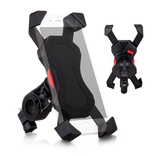 自転車ホルダー バイクスマホホルダー 自転車スタンド スマートフォンマウントホルダー バイクスタンド 360度回転 落下防止 3.5-6.5inのマホホ、iPhoneやGPSナビ対応(ブラック)