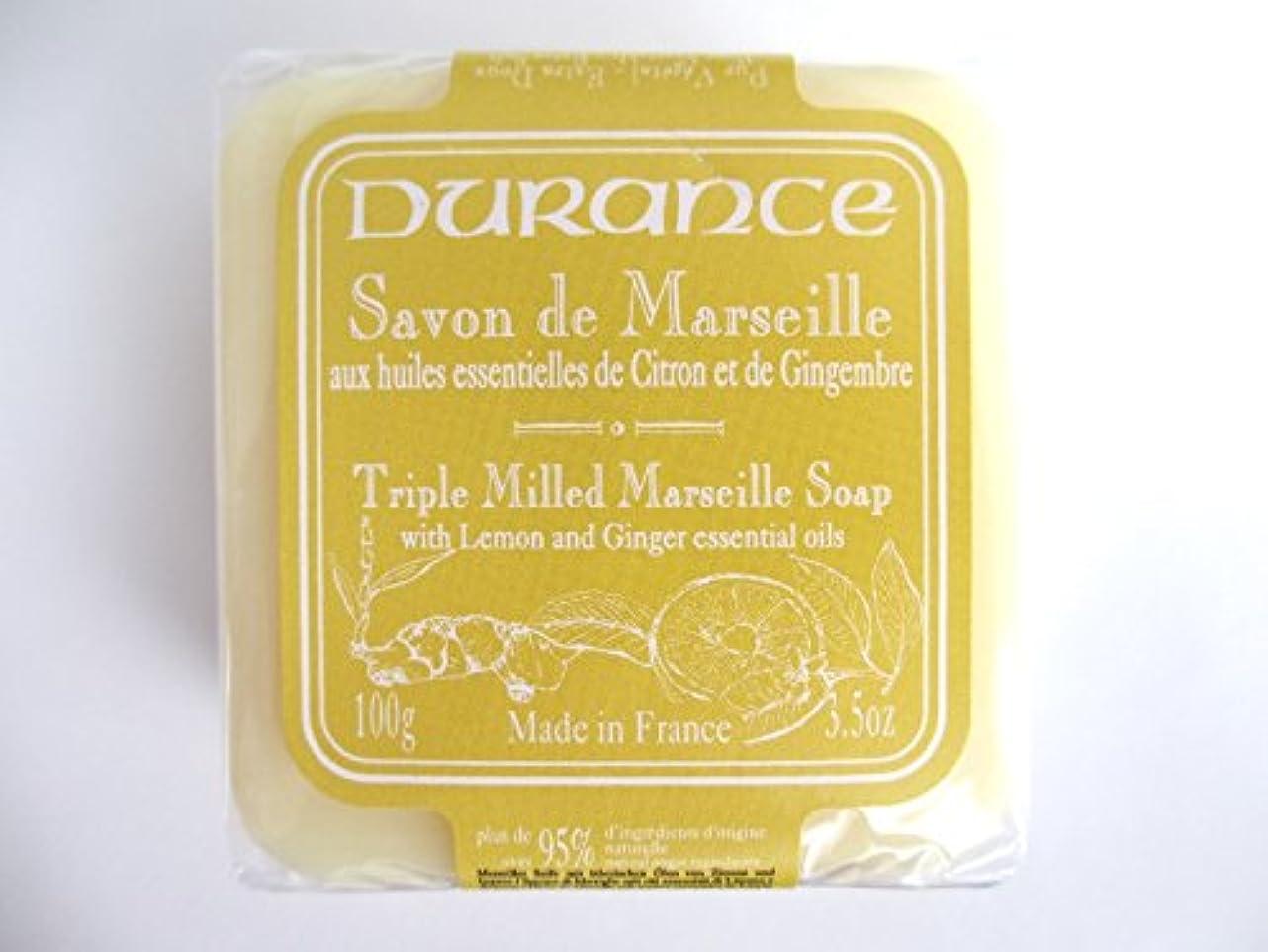 ブロック踏みつけ儀式デュランス 【マルセイユソープ】 レモンジンジャー 固形 100g 95%以上 天然成分 洗顔 全身