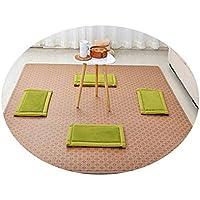 畳敷き天然籐マットカーペットリビングルームベッドルームサマーマット,籐のマット - 雪片,120&180cm