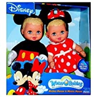Disney (ディズニー)Mickey and Minnie Mouse (ミニーマウス) Water Babies Doll Set Lauer Baby Dolls Toy ドール 人形 フィギュア(並行輸入)
