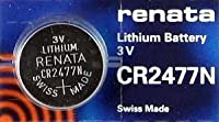 Renata Cr2477n Lithium 3v Swiss Made 5 Pcs by Renata