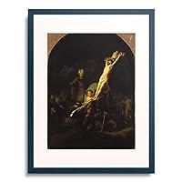 レンブラント 「キリスト昇架 The Raising of the Cross. About 1633.」 額装アート作品