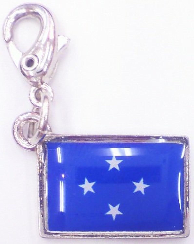 NATIONALFLAG 国旗柄ファスナーホルダー ミクロネシア連邦 07175-8