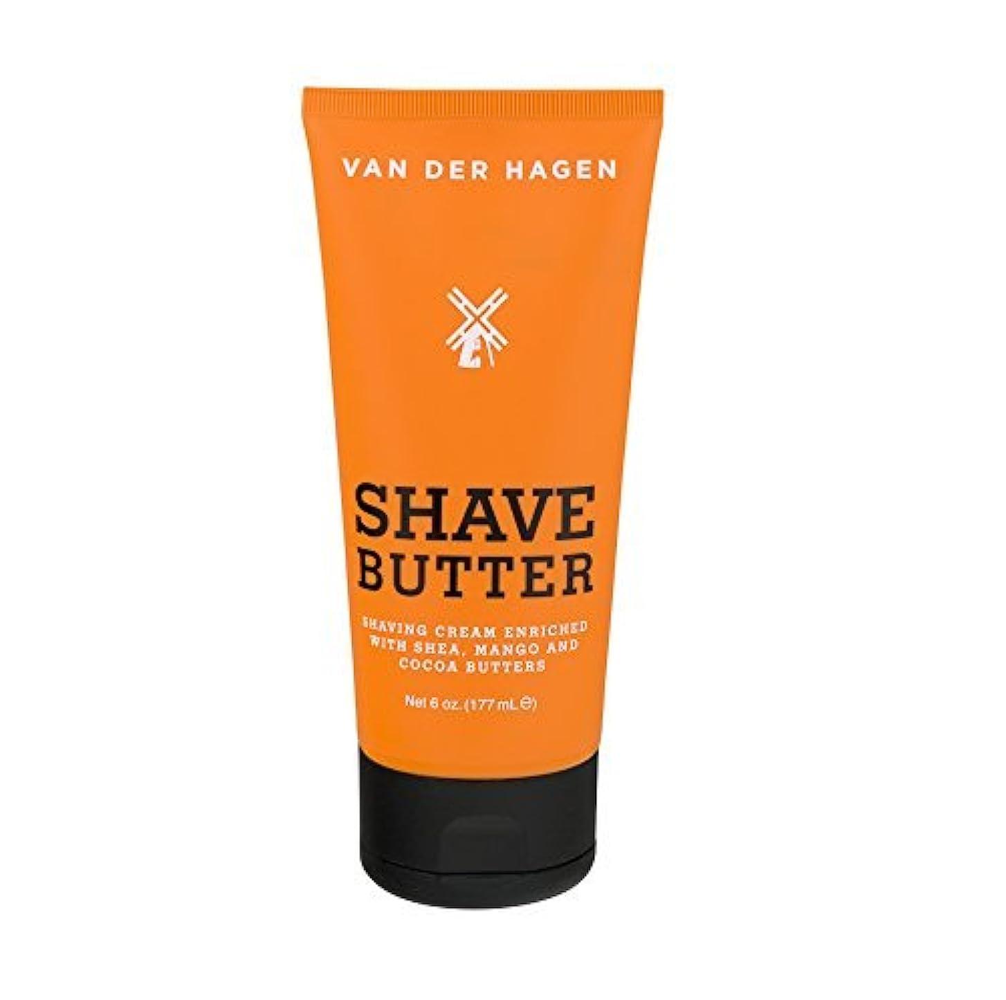 送る思いやりのある鳴らすVan Der Hagen Shave Butter 6 oz (Pack of 2) [並行輸入品]
