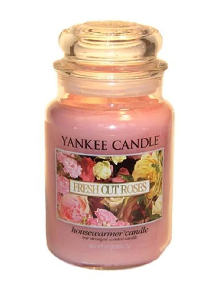 習字火山学者前売Yankee Candle Large 22-Ounce Jar Candle, Fresh Cut Roses [並行輸入品]