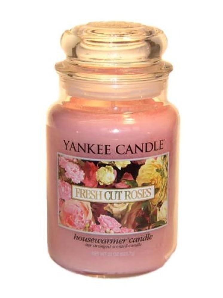 肥料アナログふさわしいYankee Candle Large 22-Ounce Jar Candle, Fresh Cut Roses [並行輸入品]