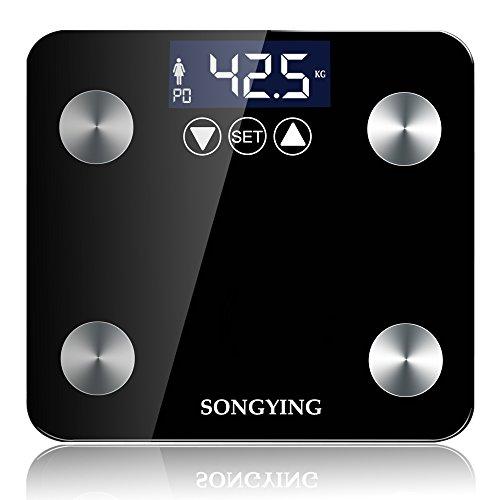 体重計 体組成計 体脂肪計 USB充電式ボディスケール 高精度スマートスケール 自動ON機能 体重/体脂肪/筋肉量/推定骨量/体脂水分/BMI測定可能 ブラック