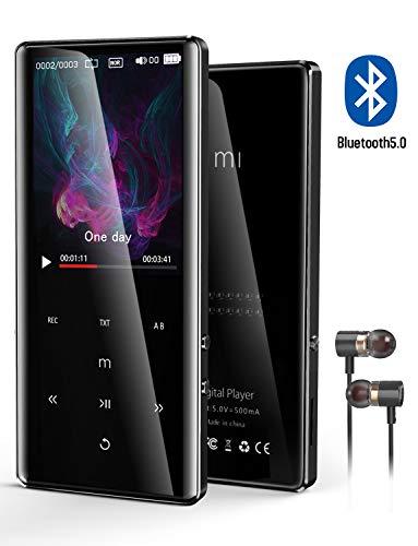 【2020最新版】MP3プレーヤー Bluetooth5.0対応 HIFI超高音質 2.4インチHD大画面 音楽プレーヤー デジタルオーディオプレーヤー 小型 FMラジオ 8GB内蔵容量 最大128GBまで拡張可能 録音対応 (日本語対応) 日本語説明書付き