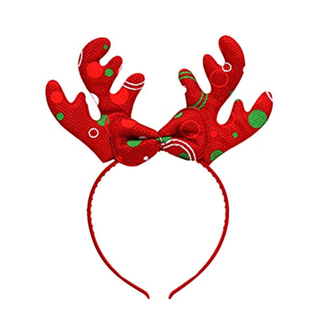 発音するビクター必要条件BESTOYARD トナカイアントラーズヘッドバンドクリスマスデコレーションヘッドドレスヘアフープコスチュームヘアアクセサリー(ランダムカラー)