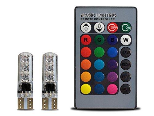 RGB T10 ウェッジバルブ 6チップ マジックランプ リ...