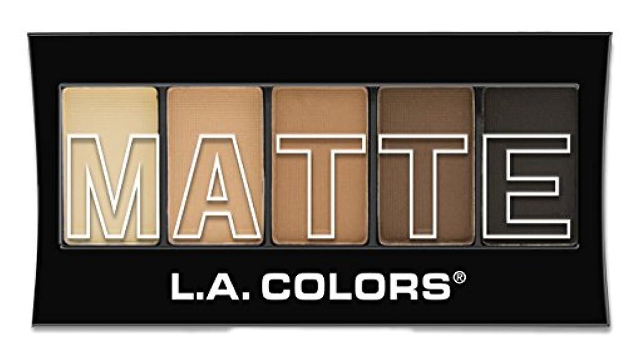 北抵抗するカメL.A. Colors Matte Eyeshadow Brown Tweed (並行輸入品)