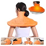 Neck Shoulder Back Heating Pad, Massaging Heat Wrap Heated Shawl Adjustable Intensity for Decompression Full Body Massager Neck Shoulder Heating Moist Heat Therapy Pad