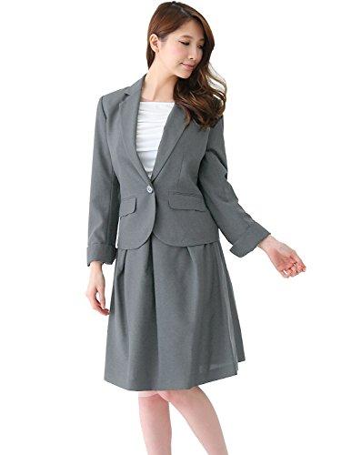 2点セット 洗える /(アッドルージュ/) レディース フレアスカート AddRouge スーツ 【j5033】