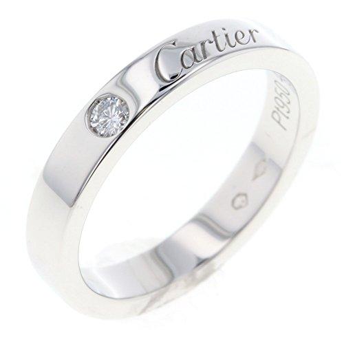 (カルティエ) CARTIER エングレーブド ウェディング 1P リング・指輪 プラチナPT950/ダイヤモンド レディース 中古 [PD3]