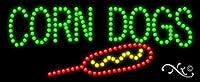 11x 27x 1インチCorn Dogsアニメーション点滅LEDウィンドウサイン