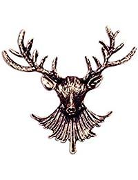 Bingirlファッションヴィンテージ鹿トナカイブローチ襟ピンジュエリーギフトforクリスマス