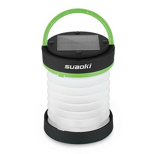 suaoki 3WAY高輝度LEDランタン ソーラーライト 懐中電灯 電池不要 USB充電 アウトドアや災害時の備えに グリーン