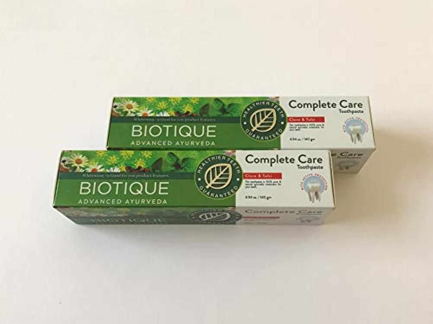 階層報酬の陰気バイオティーク アーユルヴェーダ コンプリートケア 歯磨き粉 140g 2本セット(箱あり)