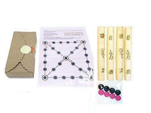 ボードゲームYUT、従来韓国語ボードゲーム、英語指示が含まれ、Yutnoriボード