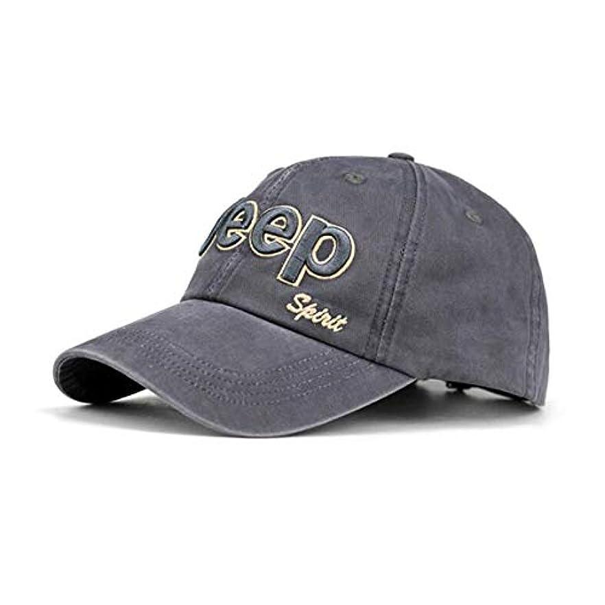 家族トピック馬力ジープアルファベットハットレトロベースボールキャップ男性用女性調節可能大人ユニセックスカジュアルキャップハイキングキャンプスポーツ暖かい帽子-ダークグレー