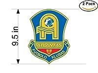FKアトランタスLithuania SOCCER FOOTBALL CLUB FC 2ステッカー車バンパーウィンドウステッカーデカール大9.5インチ