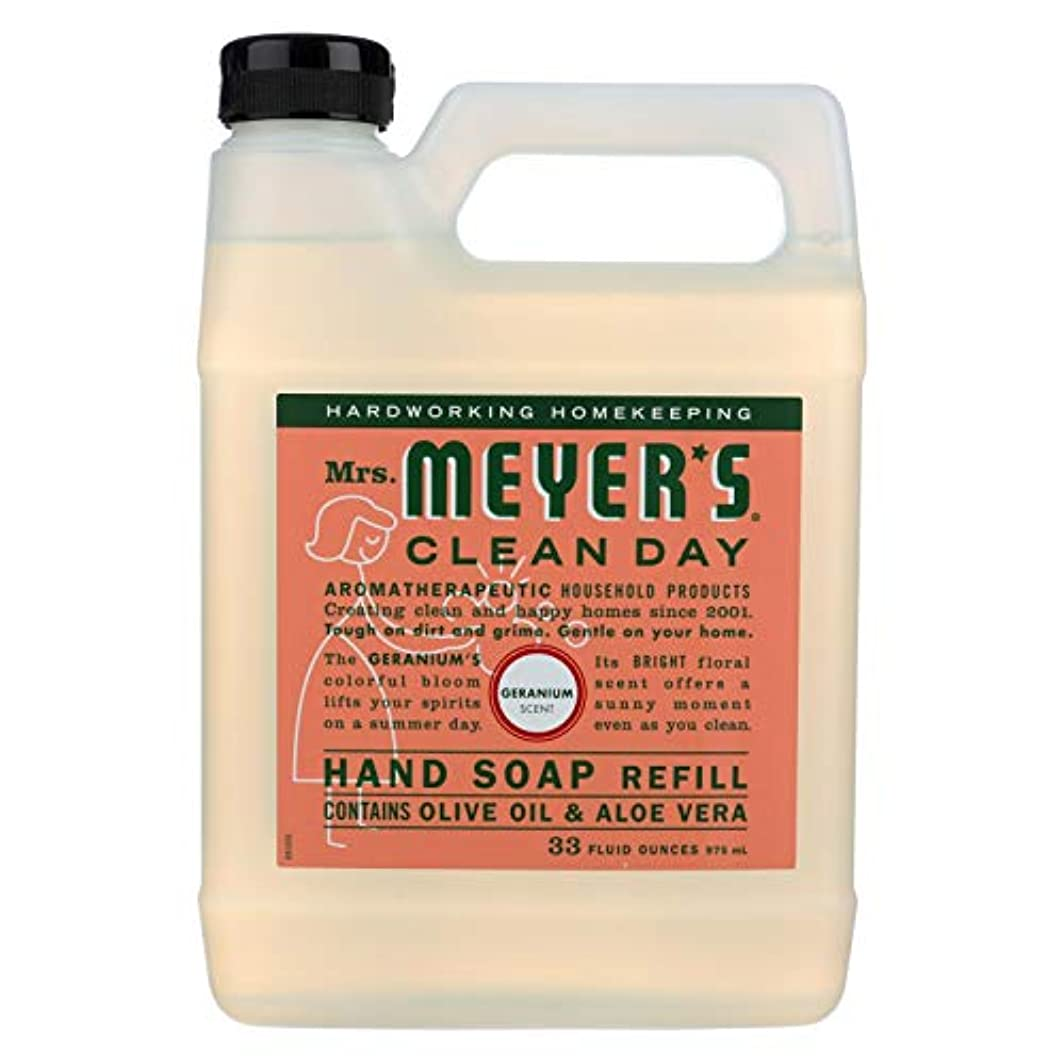 コイン冷酷なブルMrs Meyers Clean Day Geranium Liquid Hand Soap Refill, 33 Fluid Ounce -- 6 per case. by Mrs. Meyers Clean Day
