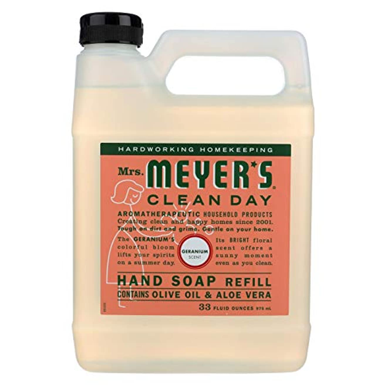 ストラップ落ち着く貸すMrs Meyers Clean Day Geranium Liquid Hand Soap Refill, 33 Fluid Ounce -- 6 per case. by Mrs. Meyers Clean Day