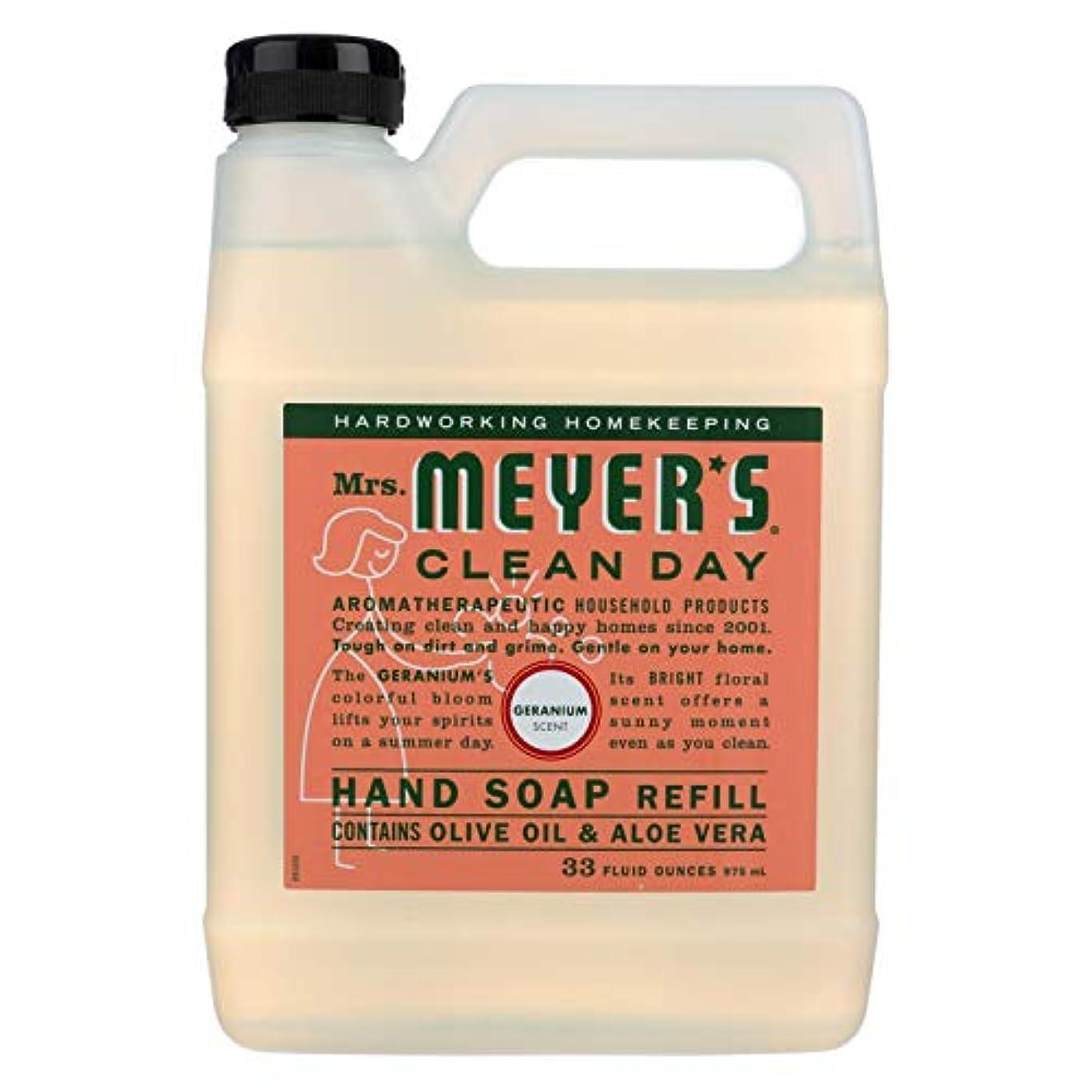 ヒップ不正原告Mrs Meyers Clean Day Geranium Liquid Hand Soap Refill, 33 Fluid Ounce -- 6 per case. by Mrs. Meyers Clean Day