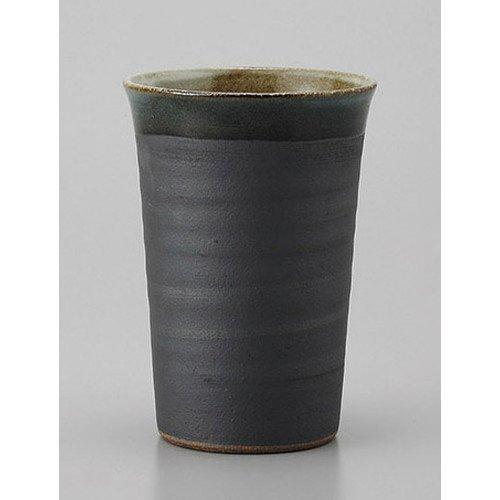 ビールカップ 黒流しビアタンブラー [8.5 x 12.5c...
