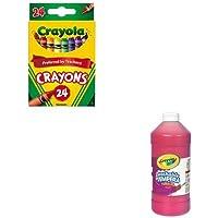 kitcyo523024cyo543132038 – Valueキット – Crayola Artista II Washableテンペラペイント( cyo543132038 ) and Crayola Classic色パッククレヨン( cyo523024 )