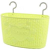 33 CM多目的プラスチック貯蔵バスケット家庭用オーガナイザー、グリーンを愛する