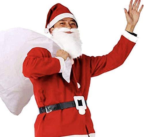 ROZZERMAN サンタクロース コスチューム 大人用 サンタ コスプレ クリスマス 衣装 トナカイ S4 (サンタコスチューム5点セット)
