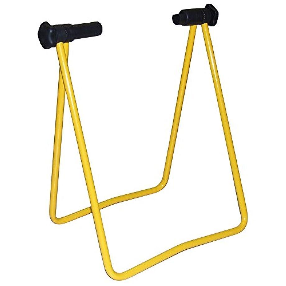 租界通行料金恋人AZ(エーゼット) 自転車用ワークスタンド 折りたたみ式II黄 ディスプレイスタンド ワークスタンド 作業スタンド 自転車スタンド KF206 黄
