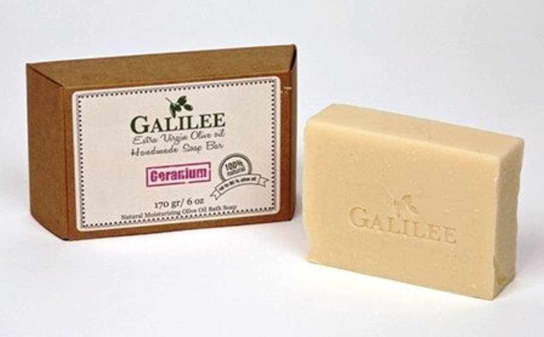 ディンカルビル名誉ある苗Galilee Magic ガリラヤオリーブオイルソープバー 3.5oz レモングラスオリーブオイル