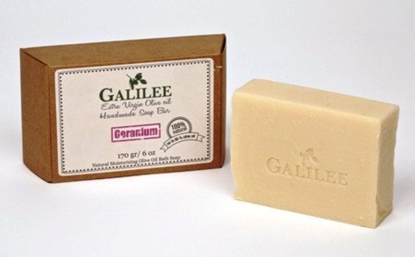 中性の中でスチールGalilee Magic ガリラヤオリーブオイルソープバー 3.5oz レモングラスオリーブオイル