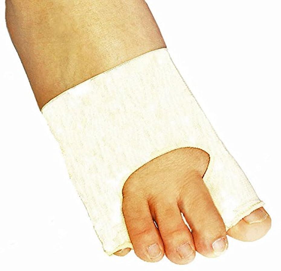 改修奨励インド外反母趾?内反小指シルクサポーター 片足?右 S22-24cm