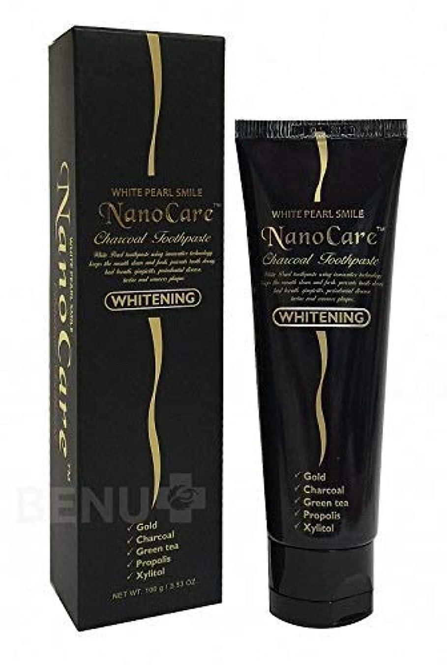 接尾辞集団的支援Nano Care Whitening Toothpaste with 24K Gold and Activated Charcoal nanoparticles 100 ml Made in Korea / 24Kゴールド...