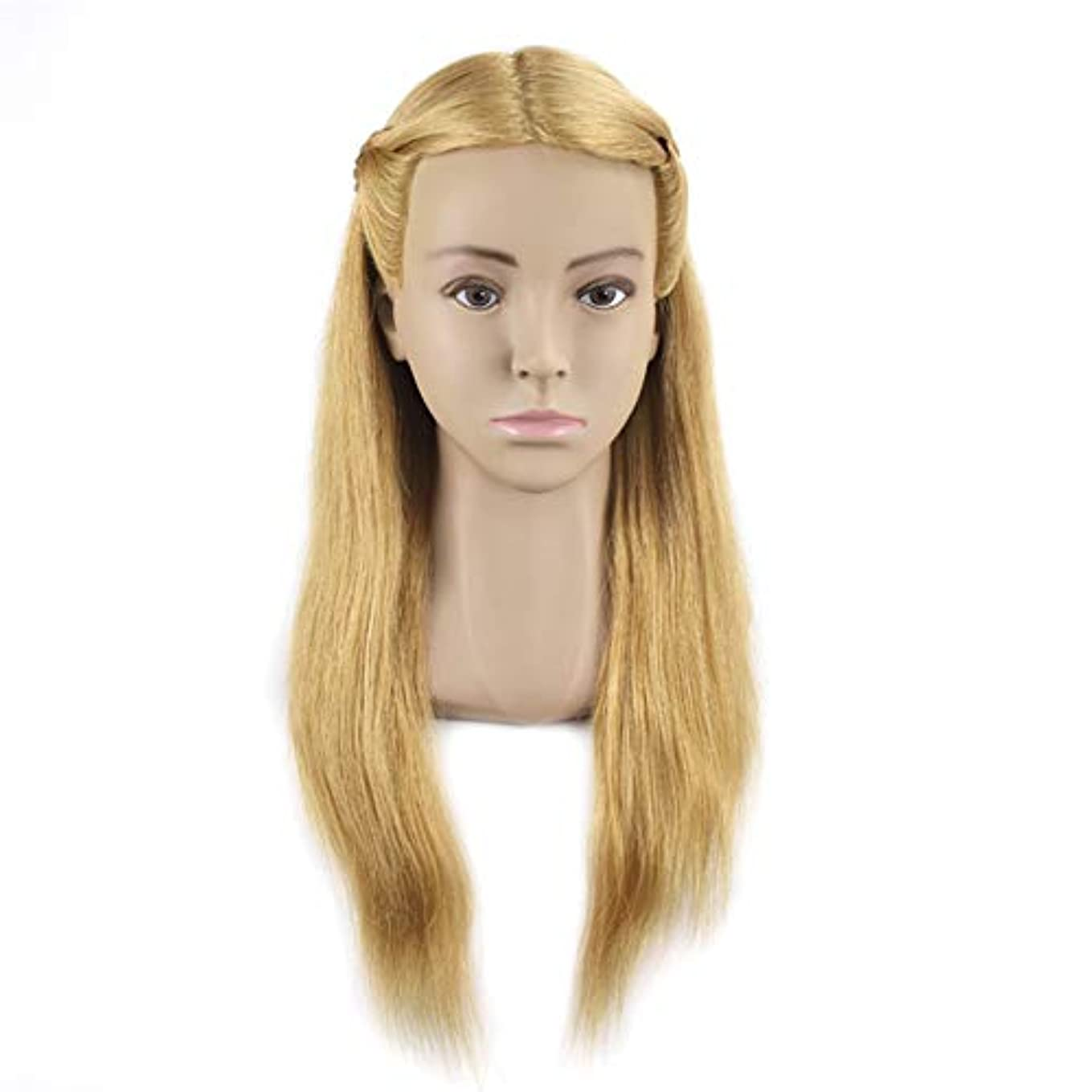 謎めいたシャットグロー完全な人毛ヘアスタイリングモデルヘッド女性モデルヘッドティーチングヘッド理髪店編組髪染め学習ダミーヘッド