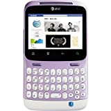 HTC ChaCha A810E Unlocked WHITE/PURPLE GSM QuadBand Cellular Phone - International Version with International Warranty [並行輸入品]