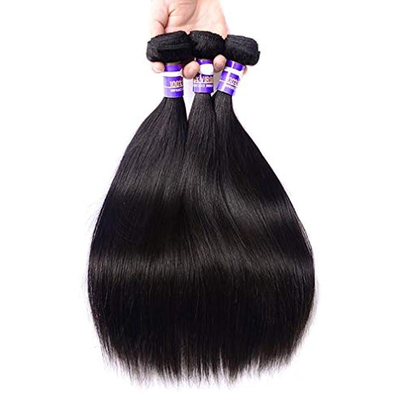 ぼろパーティション起業家女性の髪織り9Aブラジルのストレートヘアバンドル安いブラジルのヘアバンドルストレート人間の髪のバンドル(3バンドル)