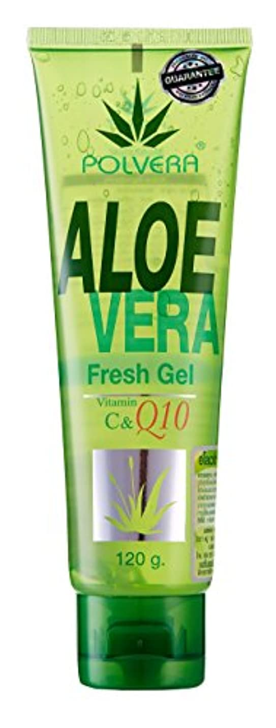 欠員俳優ティッシュPolvera Aloe Vera FRESH GEL Polvera Q10 120g ポルベラアロエベラフレッシュジェルQ10 +ビタミンC 120g