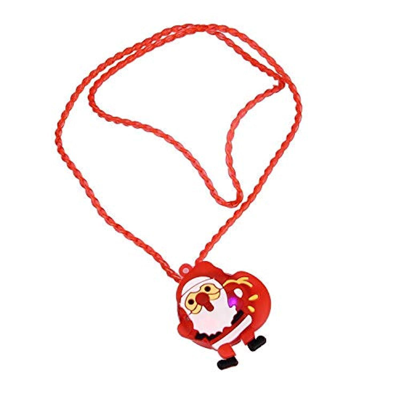 Cinhent Toys ライト付きクリスマスLEDライトアップネックレス 1個 子供用 大人 パーティーの記念品 クリスマス玩具 フェスティバル セーターアクセサリー 36 x 4 cm 男の子 女の子 ギフト 電池付属