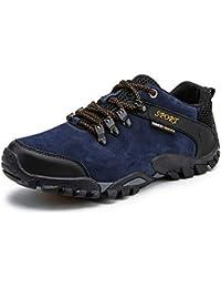 Easondea ハイキングシューズ メンズ 本革 ウォーキングシューズ トレッキングシューズ 滑り止め 耐摩耗性 軽量 通気 登山靴