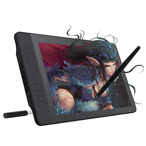 GAOMON 15.6インチIPS HD液晶ペンタブ 10個ショートカットキー 8192筆圧ワイヤレス充電式ペンとスタンド付き ペンディスプレイPD1560
