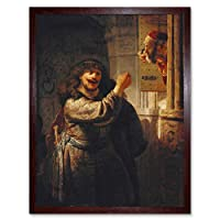 Rembrandt Samson Threatened His Father In Law Art Print Framed Poster Wall Decor 12x16 inch ポスター壁デコ