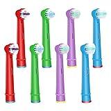 WyFun ブラウン オーラルB 対応 電動歯ブラシ 子供用 EB10 すみずみクリーンキッズ やわらかめ 対応 オーラルb 替えブラシ 子供 (8カウント)